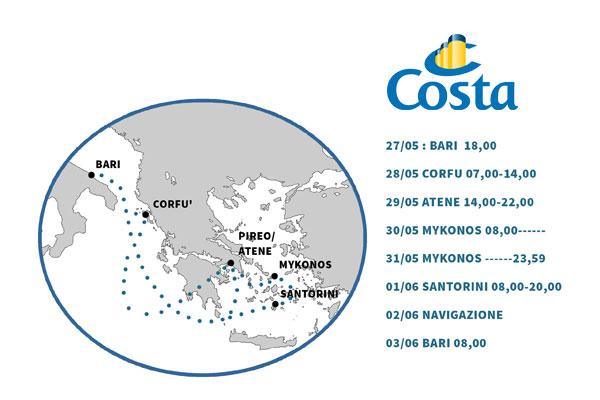 CROCIERA COSTA NEOCLASSICA IN GRECIA
